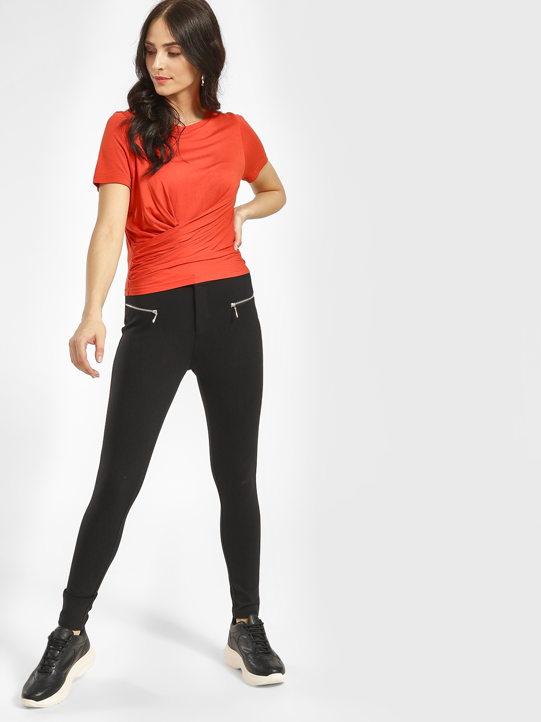 Cover Story Black Basic Skinny Fit Trousers 1