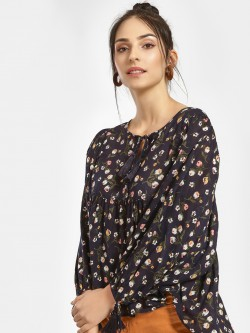 Cover Story Floral Print Blouse