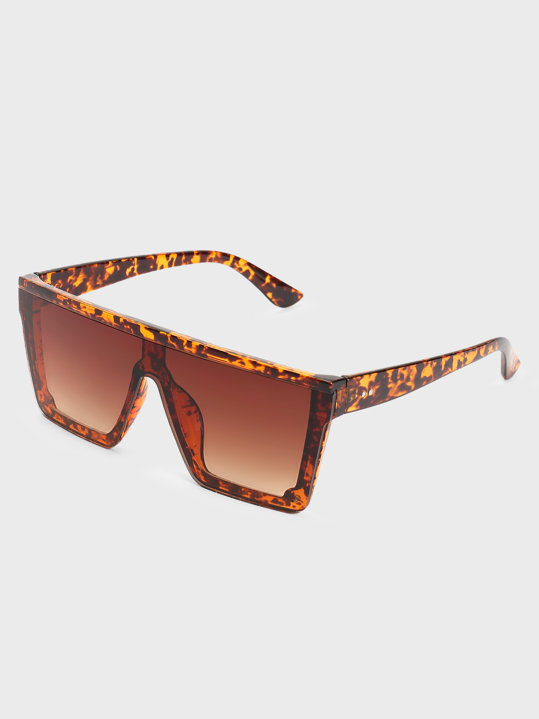 Pataaka Brown Tortoise Shell Frame Square Sunglasses 1