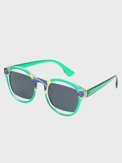 Pataaka Printed Frame Retro Sunglasses