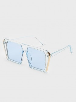 Pataaka Clear Frame Square Sunglasses