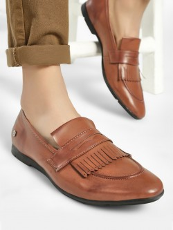 Mr Button Fringe Detail Penny Loafers