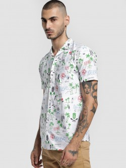 AMON Adventure Island Print Cuban Shirt