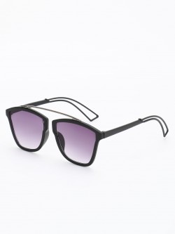 KOOVS Matte Sleek Frame Square Sunglasses