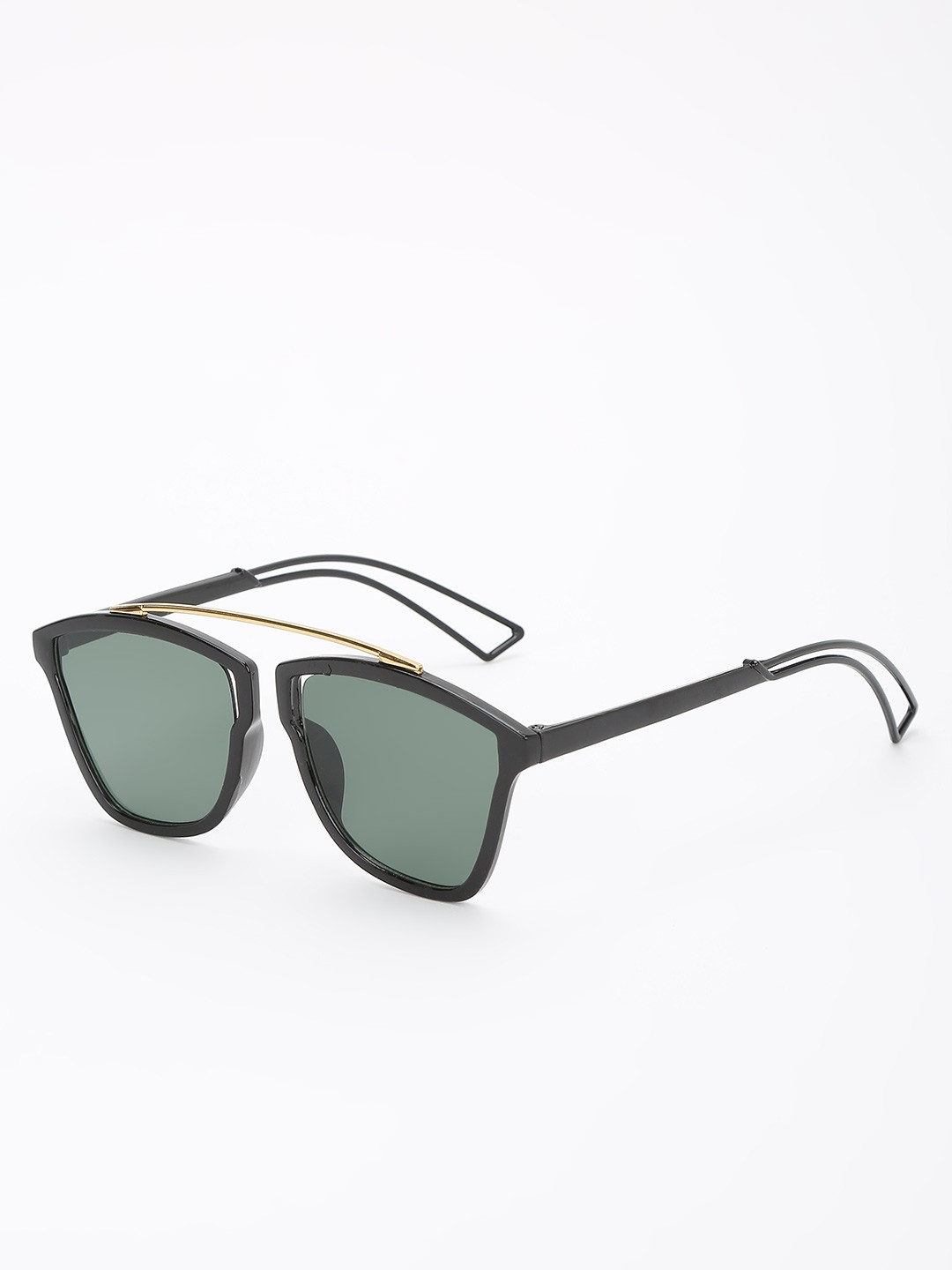 KOOVS Green Tinted Lens Square Sunglasses 1