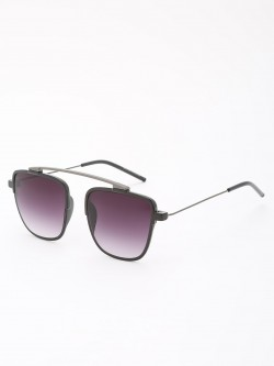 KOOVS Browbar Detail Square Sunglasses