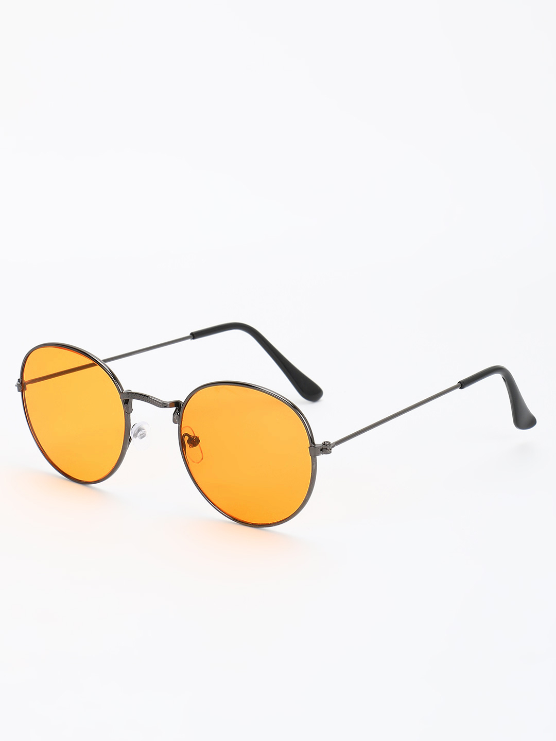 KOOVS Yellow Coloured Lens Round Sunglasses 1
