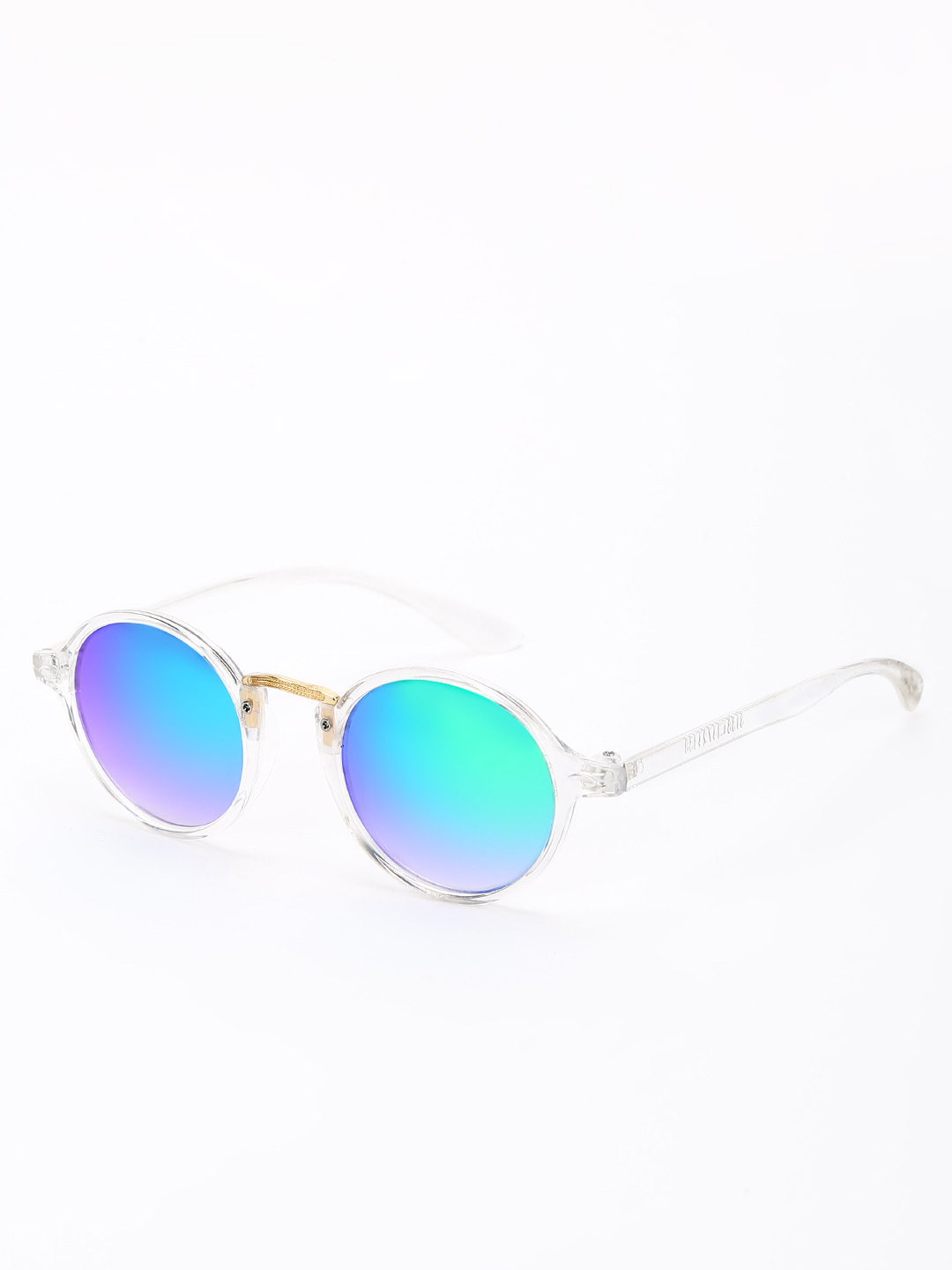 KOOVS Green Reflector Lens Round Sunglasses 1