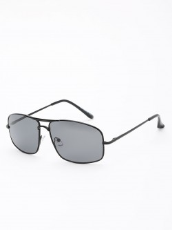 KOOVS Metallic Frame Square Sunglasses
