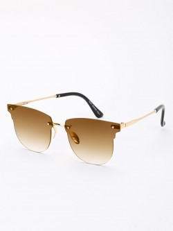 KOOVS Frameless Cateye Gradient Lens Sunglasses