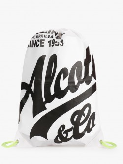 Alcott Logo Print Drawstring Backpack