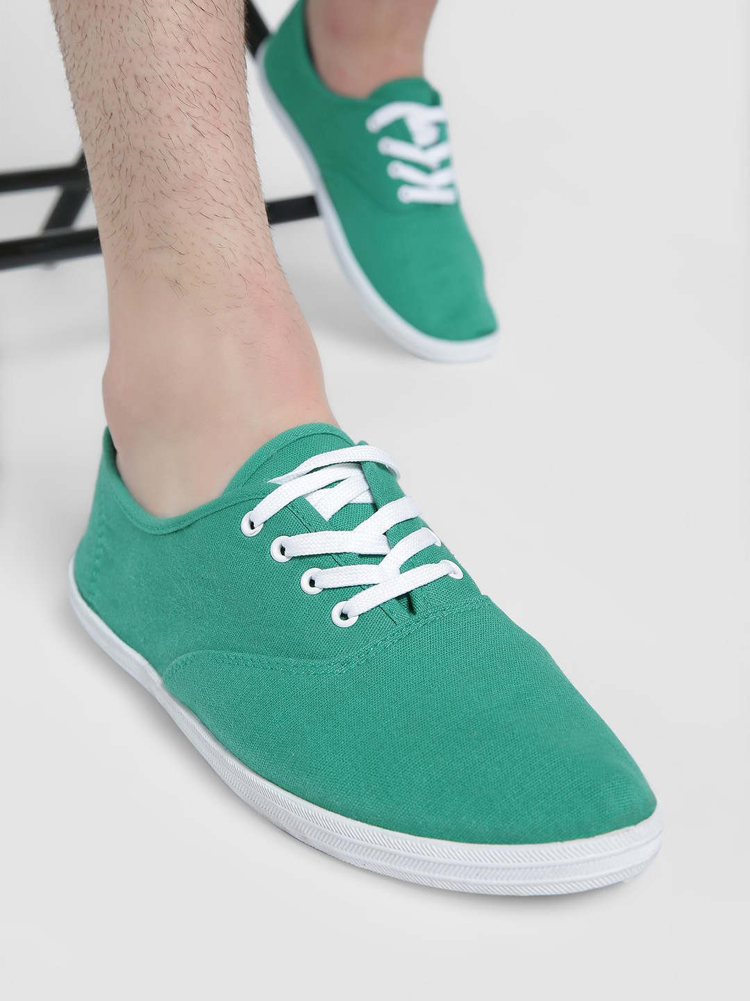 Alcott Green Lace-Up Sneakers 1