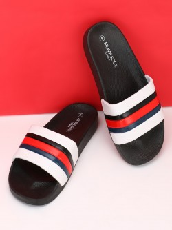 Brave Soul Colour Block Strap Slides