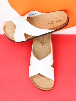 Brave Soul Cross-Strap Cork Sandals