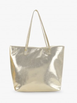 Paris Belle Metallic Tote Bag