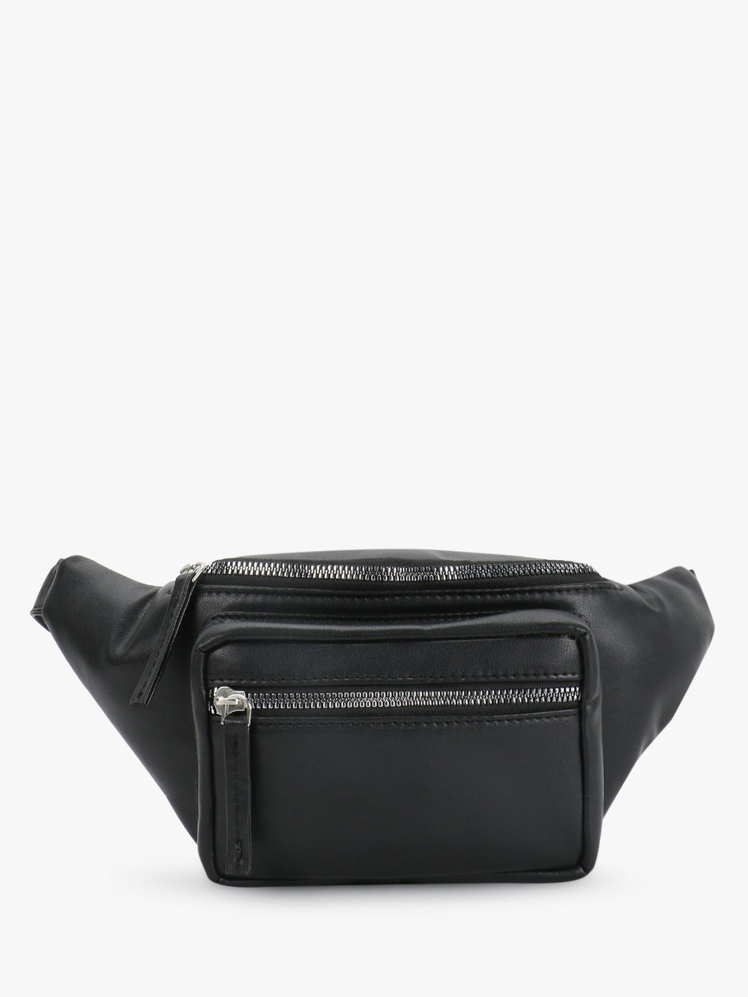 Paris Belle Black Zipper Detail Bum Bag 1