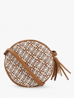 Paris Belle Crochet Lace Round Sling Bag