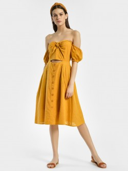 KOOVS Bow Front Off-Shoulder Dress