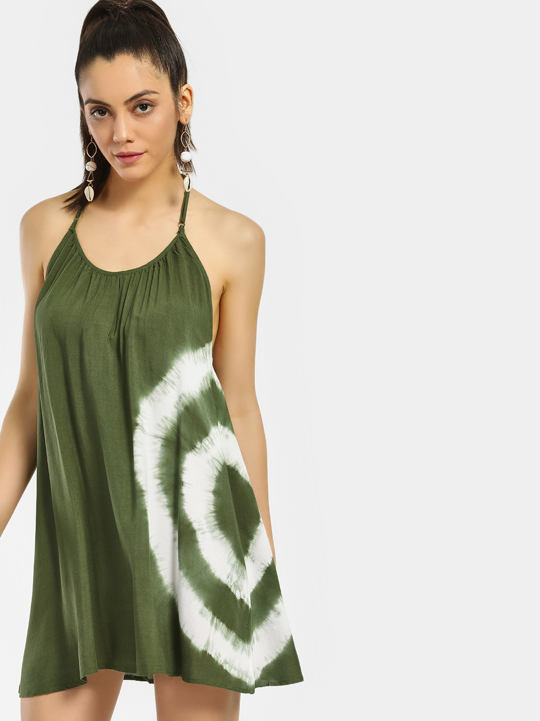 Iris Olive Tie Dye Shift Dress 1