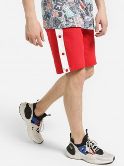 Brave Soul Side Tape Popper Shorts