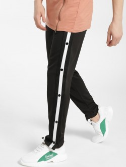 Brave Soul Side Tape Popper Jog Pants