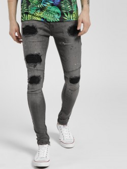 Brave Soul Distressed Innerpatch Skinny Jeans