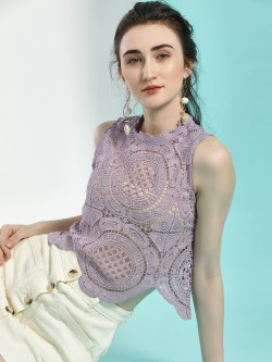 Iris Crochet Lace Crop Top