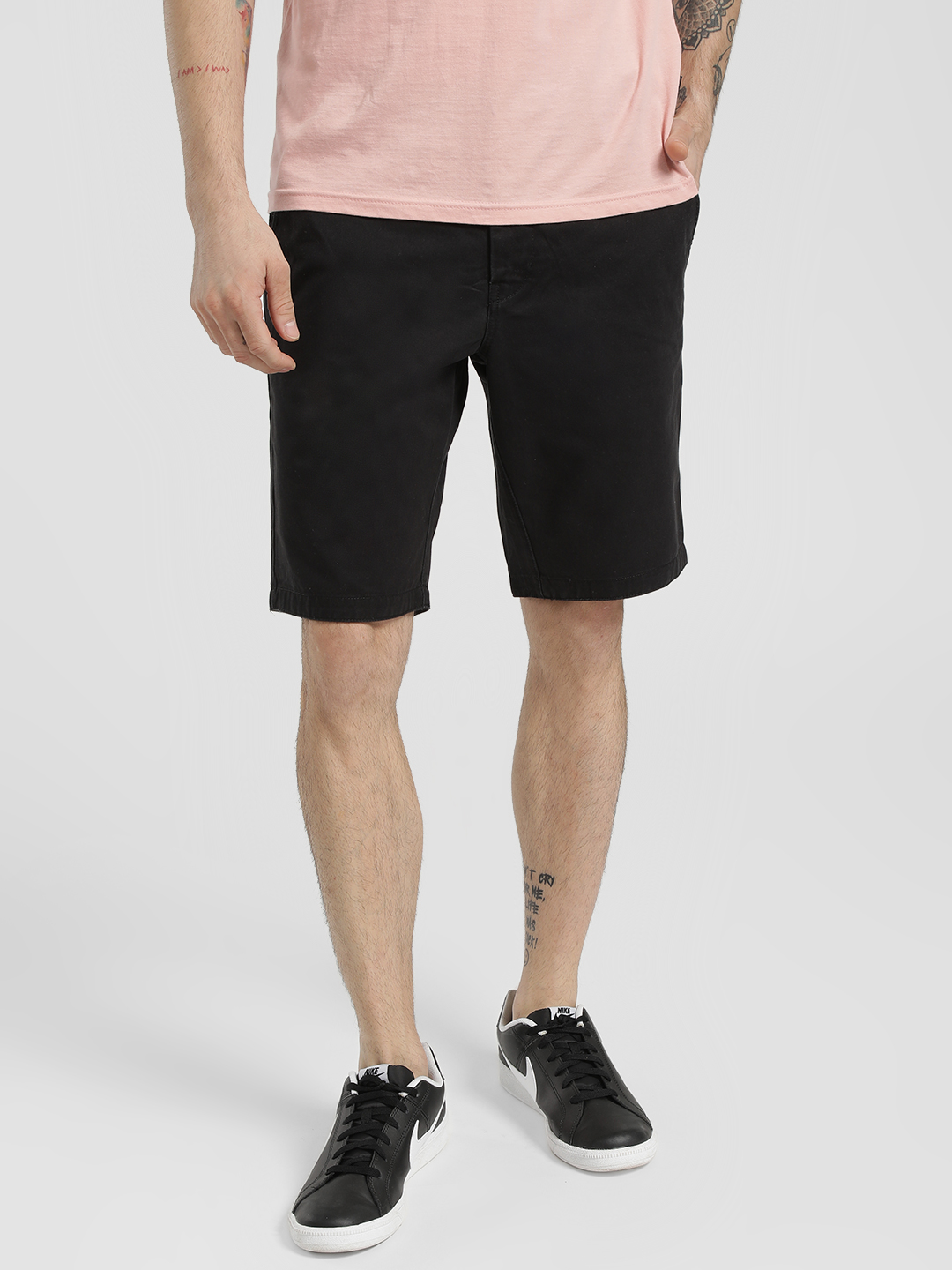 Being Human Black Basic Shorts 1