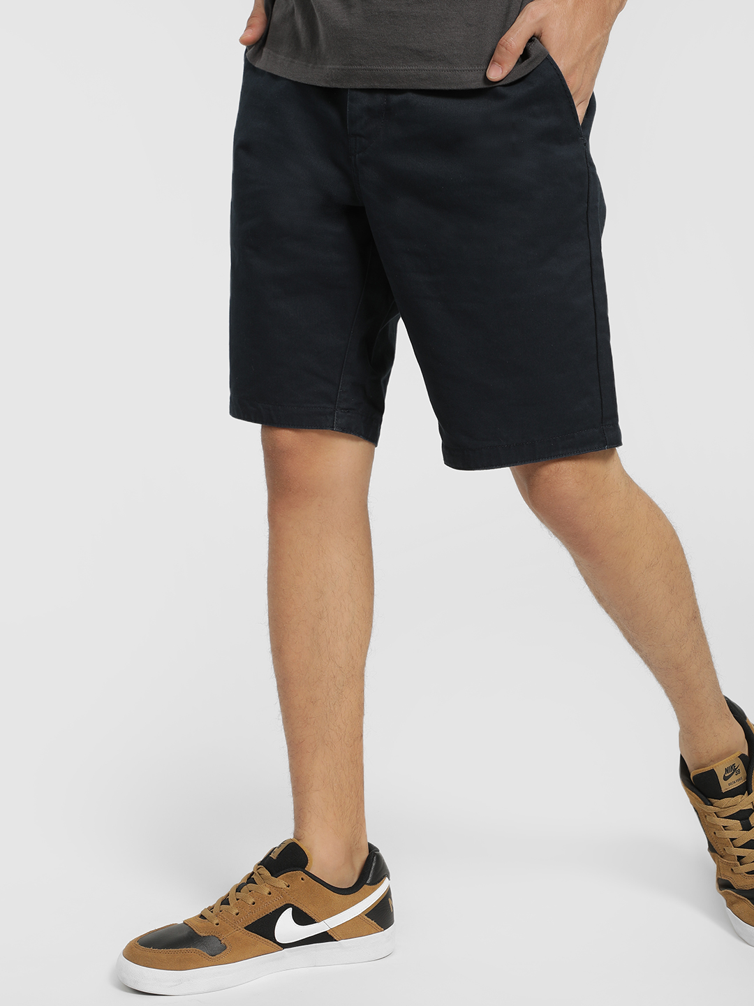 Being Human Blue Basic Shorts 1