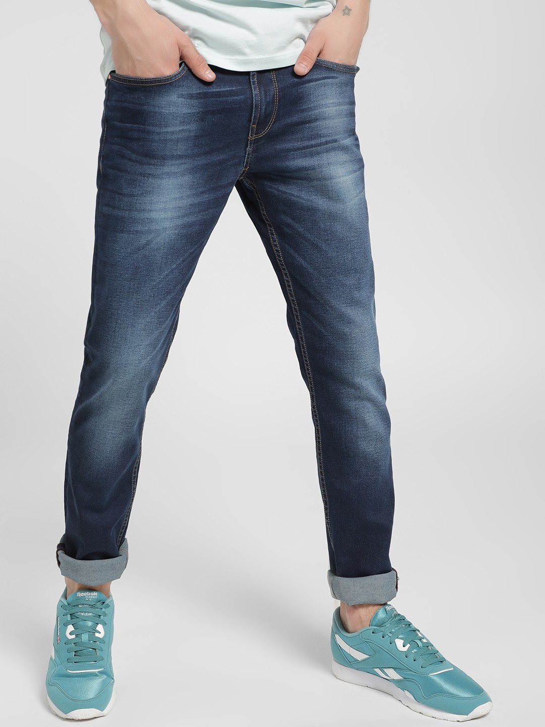 Being Human Blue Light Wash Slim Jeans 1