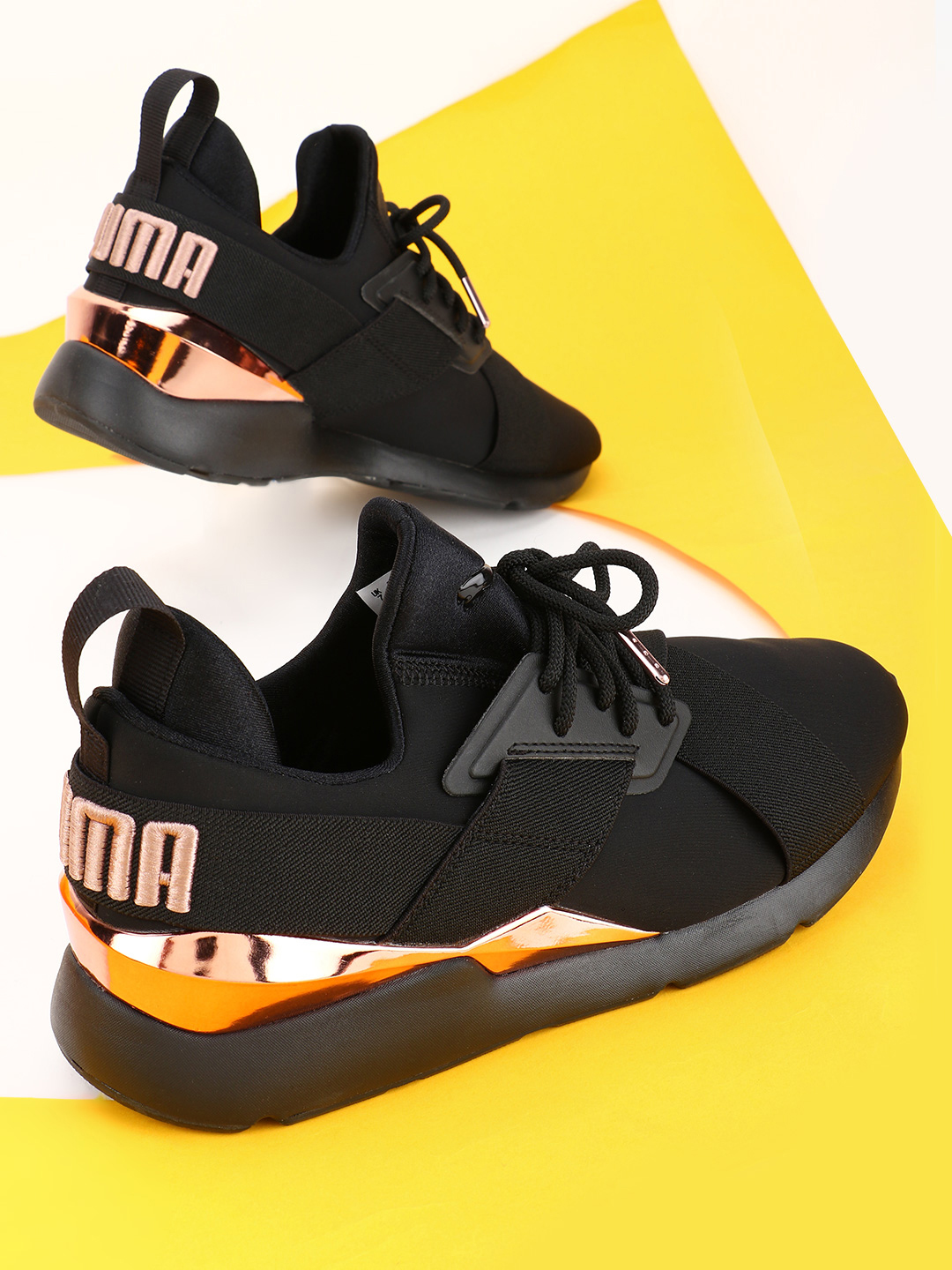 Puma Black Muse Metal Sneakers 1