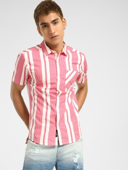 KOOVS Multi-Stripe Muscle Fit Shirt