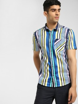 KOOVS Multi-Stripe Slim Fit Shirt