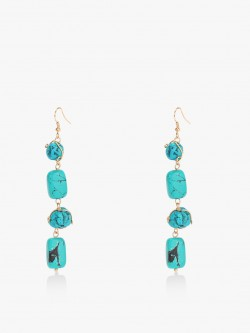 Blueberry Marble Drop Earrings