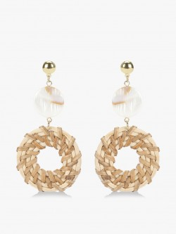 Blueberry Jute Detail Drop Earrings