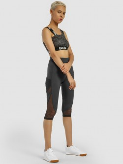 K ACTIVE KOOVS Side Mesh Panel Cropped Leggings