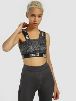 K ACTIVE KOOVS Tiger Print Crop Top