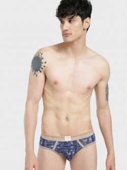 Under Colors of Benetton Contrast Waistband Printed Briefs