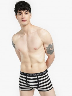 Under Colors of Benetton Logo Band Striped Trunks