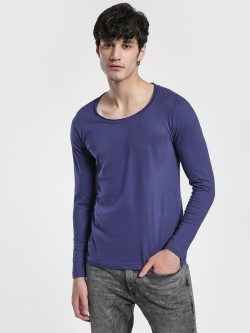 Blue Saint Long Sleeve Scoop Neck T-Shirt