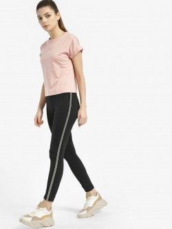 K ACTIVE KOOVS Contrast Metallic Side Tape Leggings