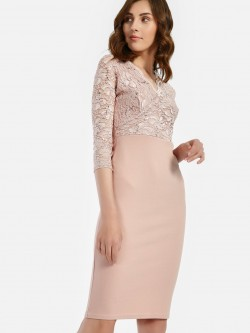 Quiz Sequin Lace Midi Dress