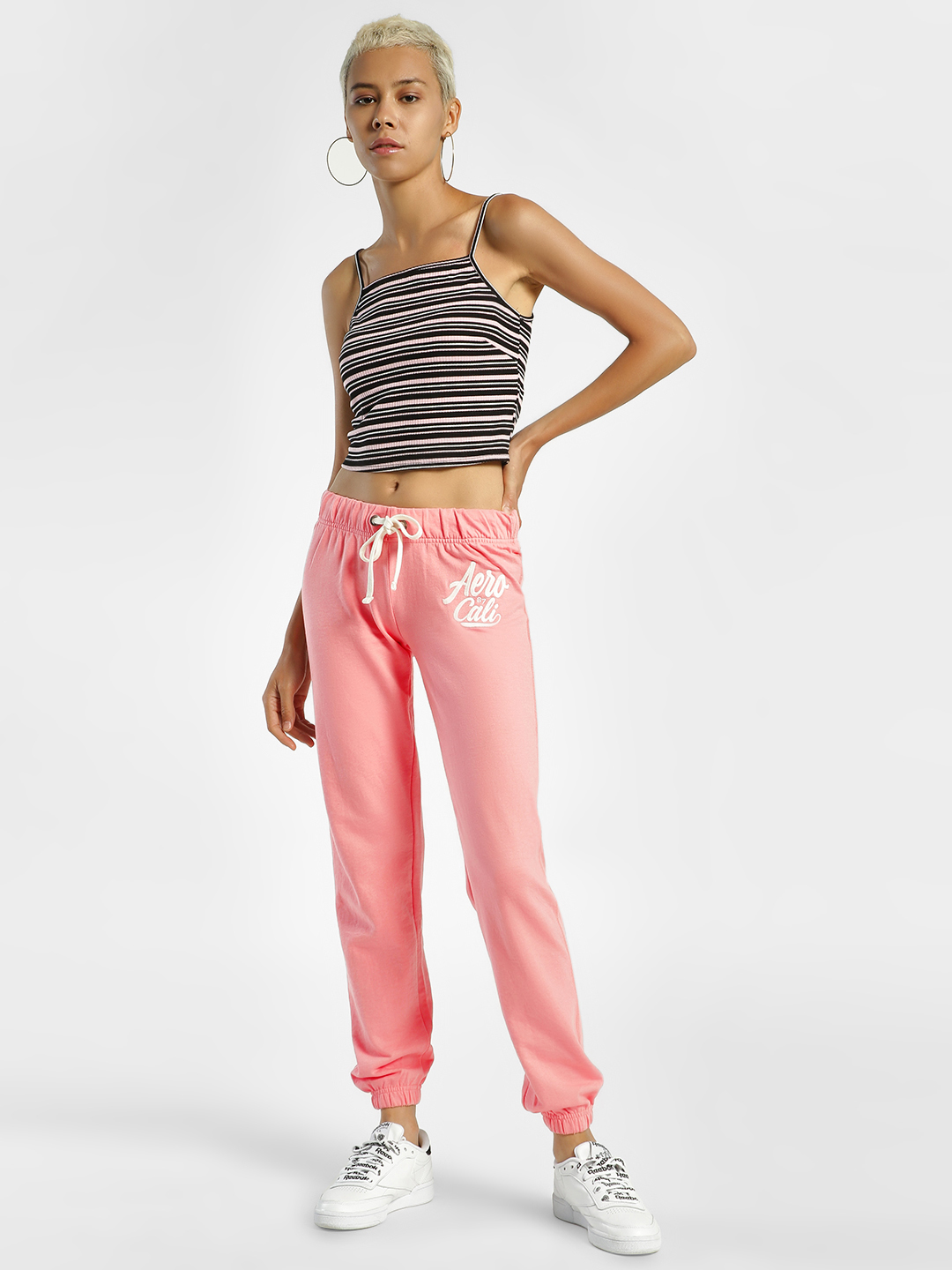 Aeropostale Pink Side Contrast Patch Joggers 1