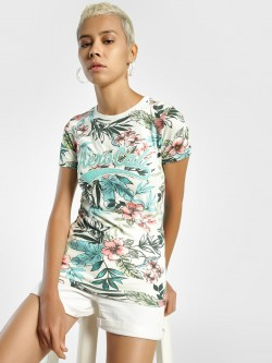Aeropostale Tropical Print Patch T-Shirt