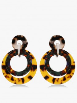 Saks London Resin Double Hoops