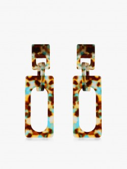 Saks London Resin Oblong Drop Earrings