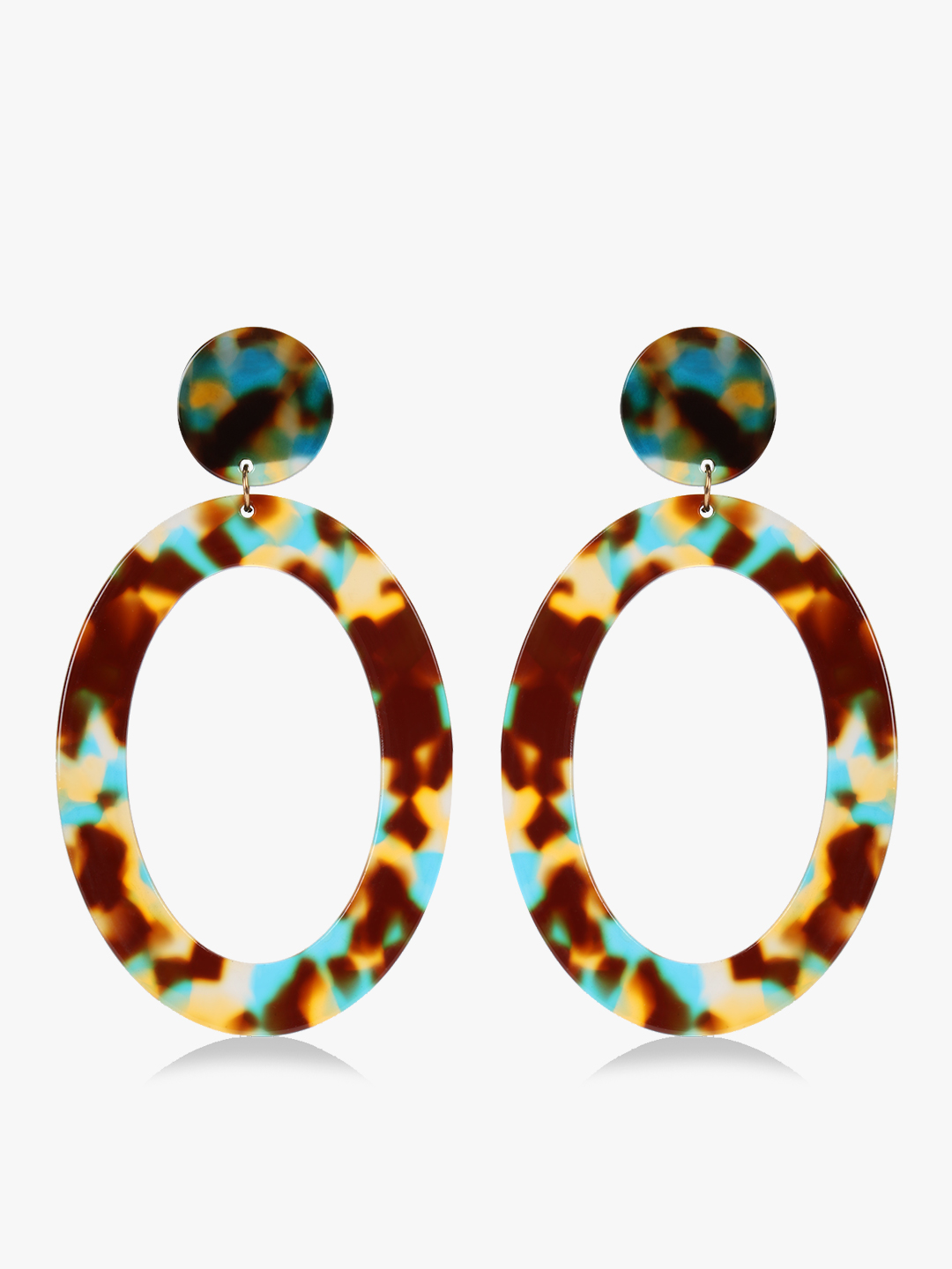 Saks London Multi Resin Drop Down Hoops 1