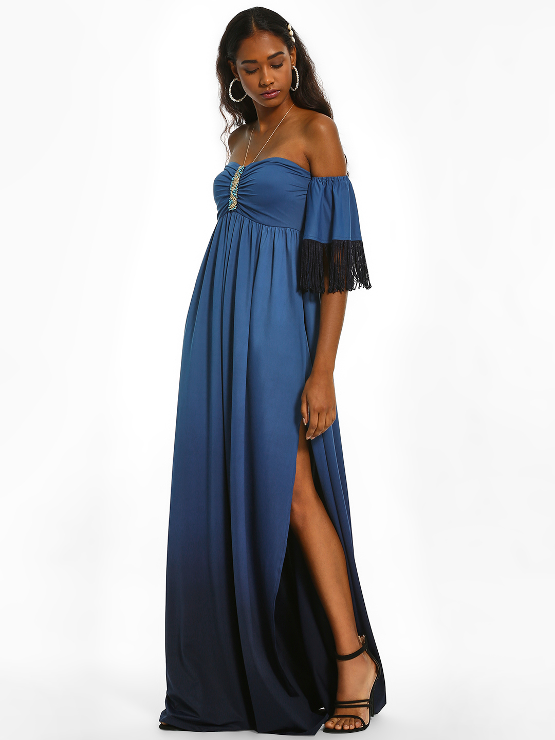 The Paperdoll Company Multi Ombre Off-Shoulder Maxi Dress 1