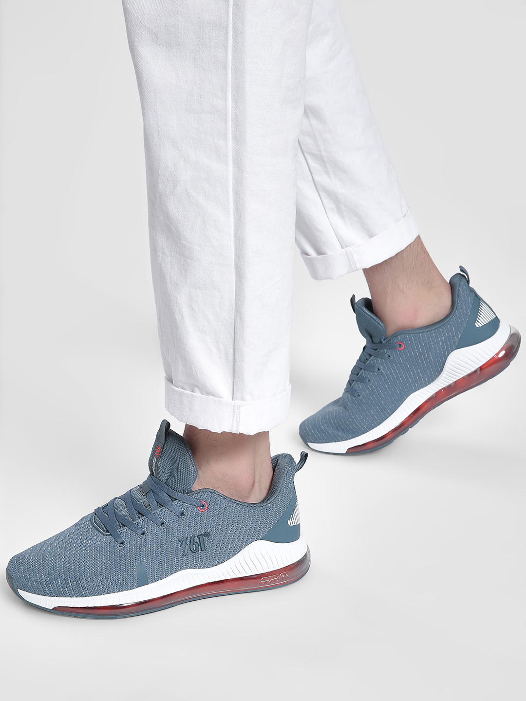 361 Degree Grey Performance Running Trainers 1