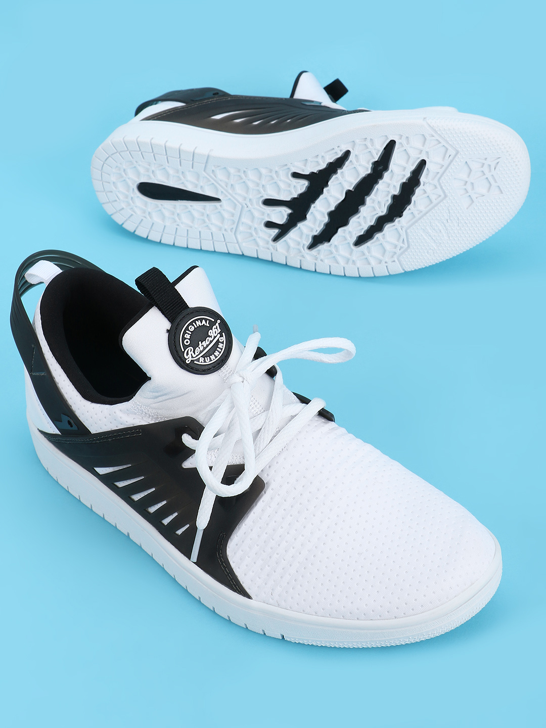 361 Degree White Skateboarding Perforated Sneakers 1